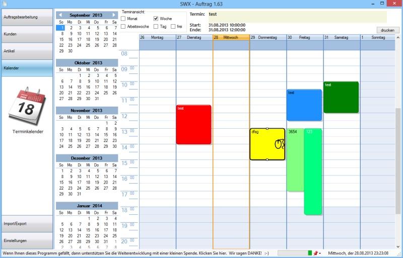 Beispielbild Kalender